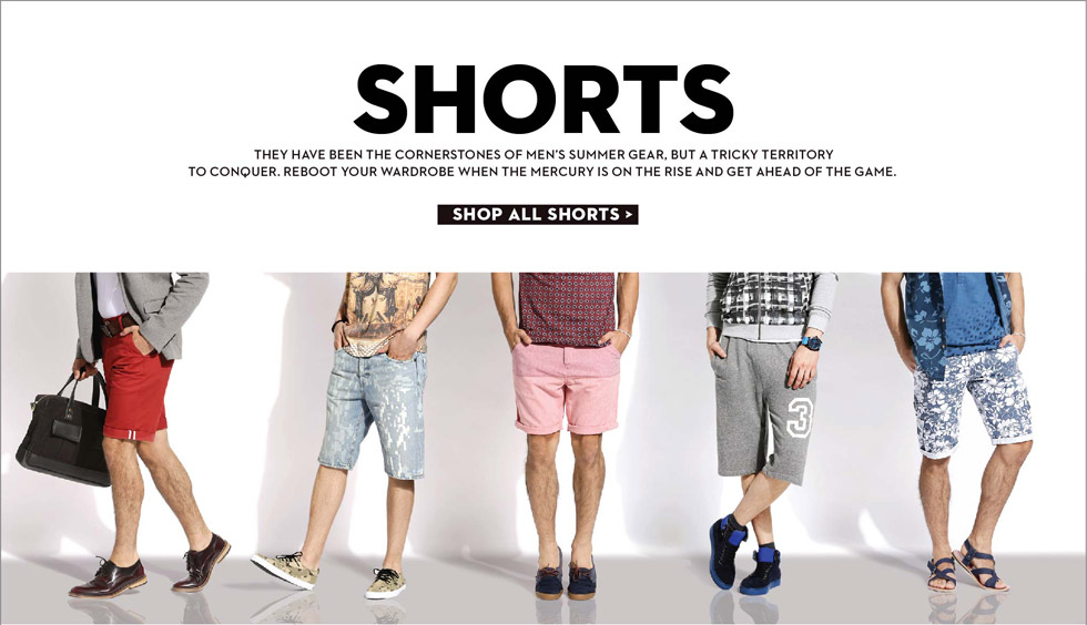 Men's Shorts Online Shop in India - Buy Shorts for Men Online in India