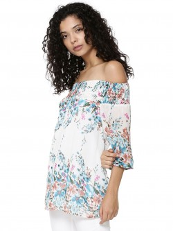 Femella Floral Off Shoulder Top