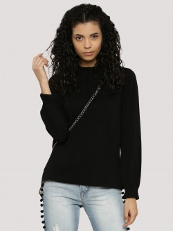 Vero Moda Raised Neck Lace Detail Top