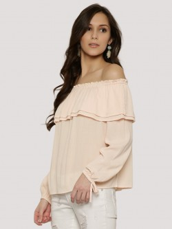 KOOVS Double Ruffle Off-Shoulder Top
