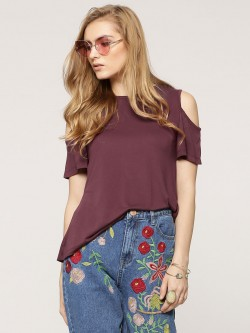 Sbuys Cold Shoulder Top