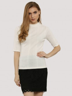 New Look Half Sleeve Turtle Neck Top