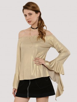 Oliv Bardot With Frilled Sleeves