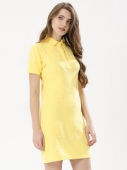 BEYOND CLOUDS  Polo Dress With Pearls