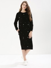 BEYOND CLOUDS  Sweat Dress With Pearls