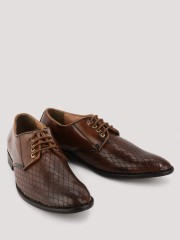 KOOVS  Derby Shoes With Textured Upper