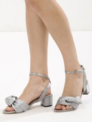 MY FOOT COUTURE  Knot Detail Block Heeled Sandals