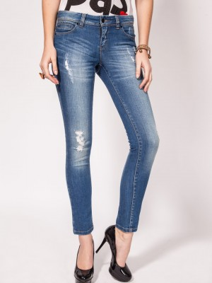 Buy Vero Moda Ankle Length Torn Jeans For Women - Women's Denim ...