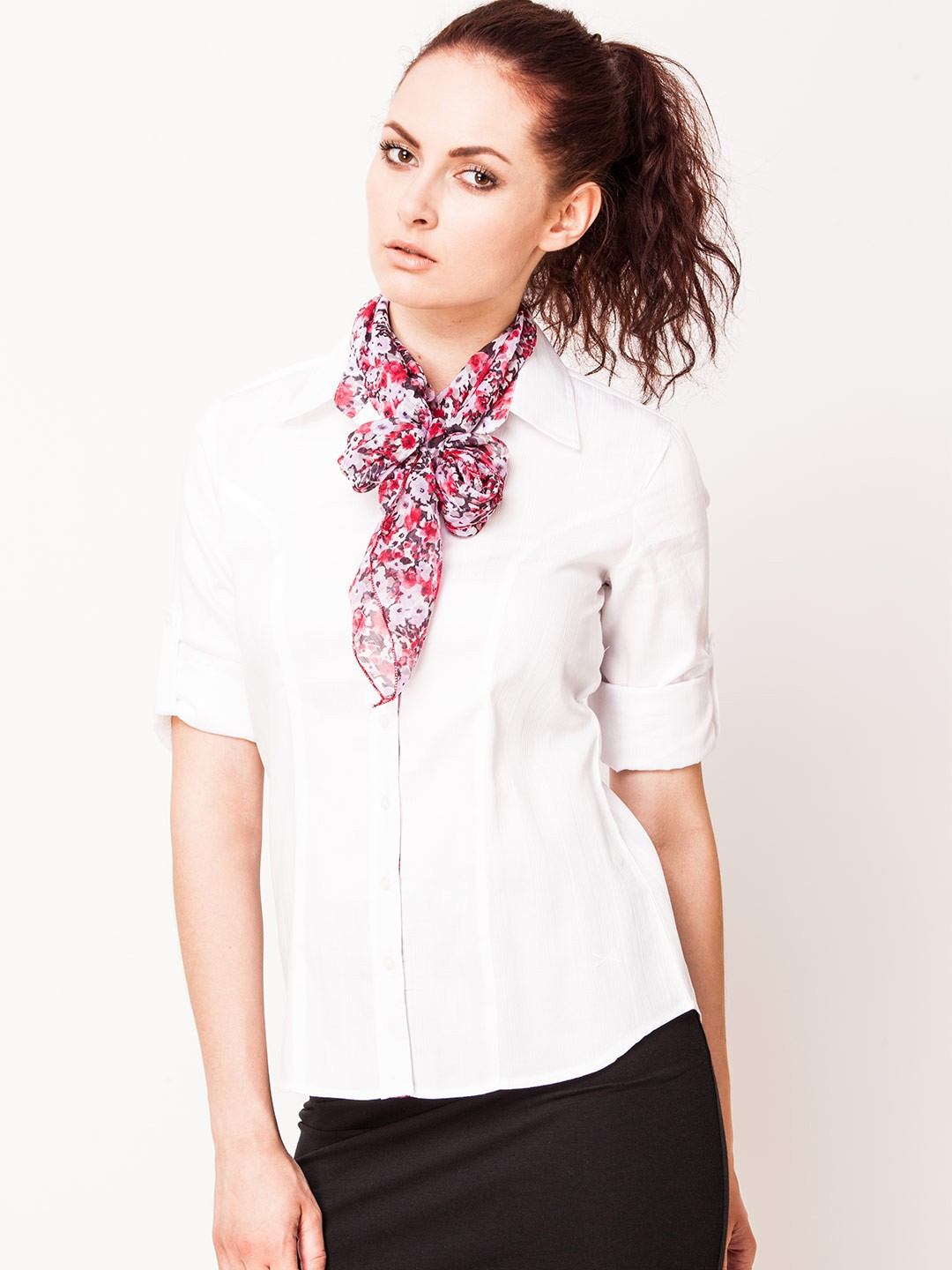 buy scullers for formal shirt with scarf collar for