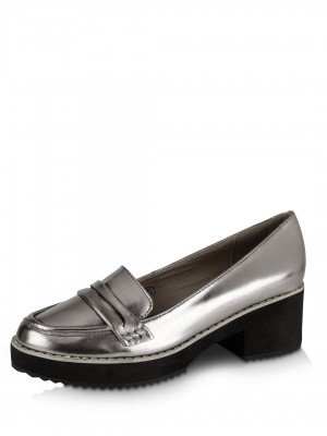 Buy DOLCIS Chunky Heel Loafers For Women - Women&39s Pewter