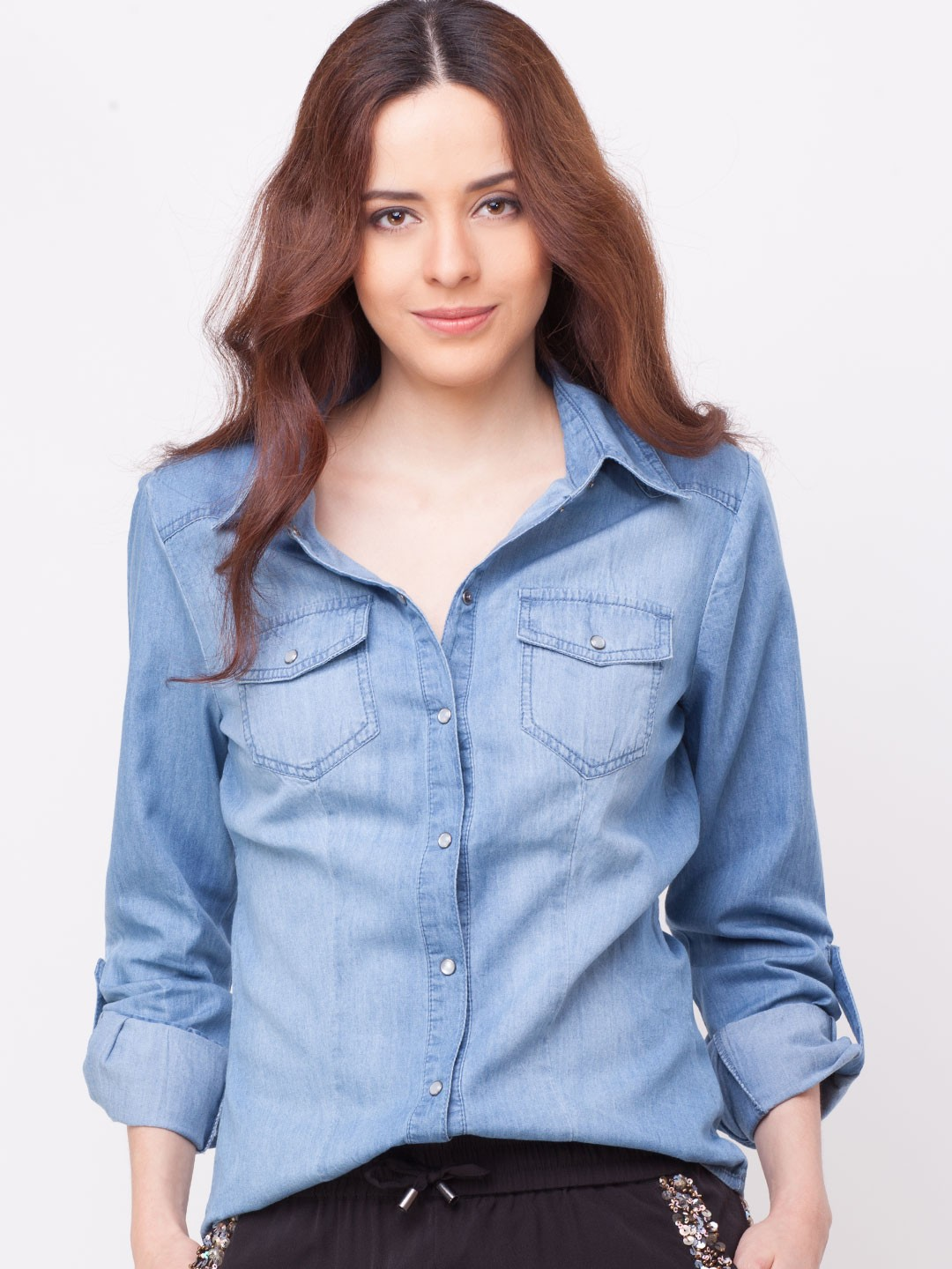 buy only faded denim shirt for women women 39 s denim