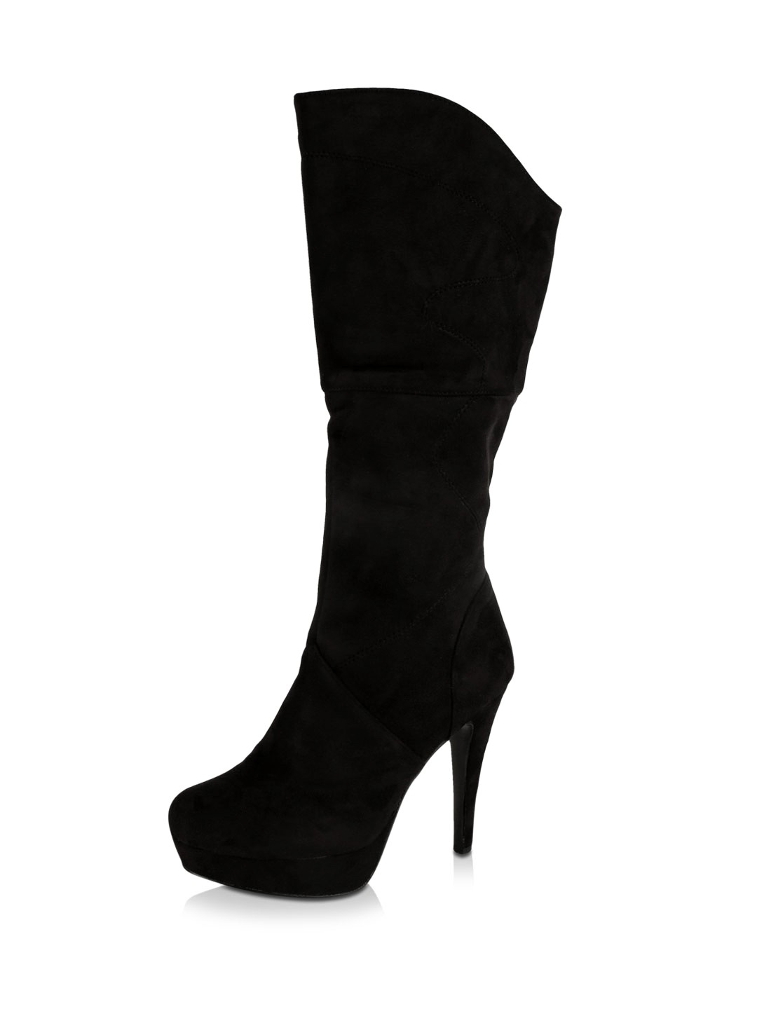 Buy MY FOOT Knee High Boots For Women - Women's Black Boots Online ...