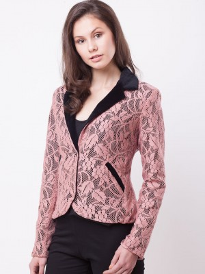 Buy STALK BUY LOVE Lace Overlay Princess Blazer For Women ...
