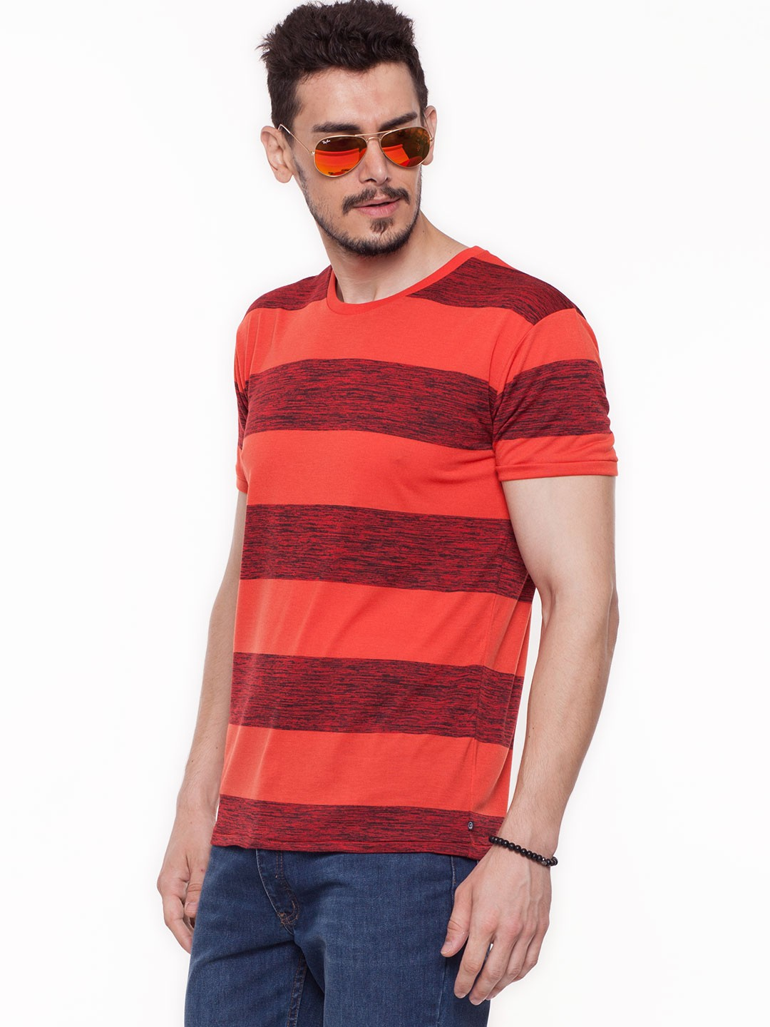 Buy cheap monday red stripe t shirt in the style of shahid for Cheap t shirt online