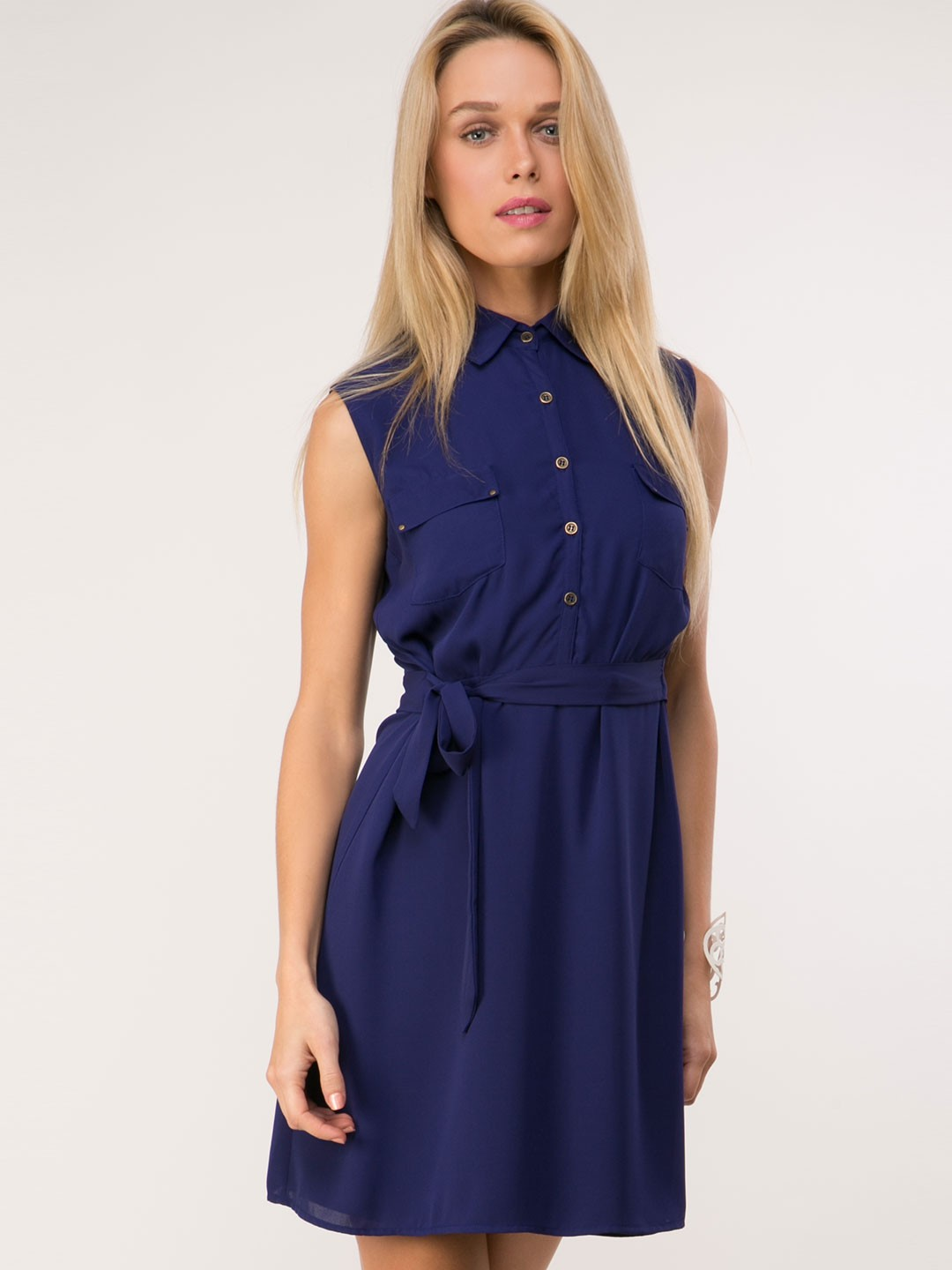 buy femella shirt dress with tie belt for s