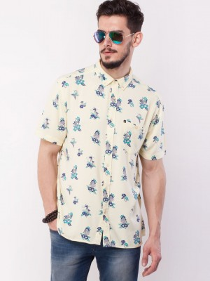 Buy QUIKSILVER Floral Print Shirt For Men - Men's Off-White Casual ...