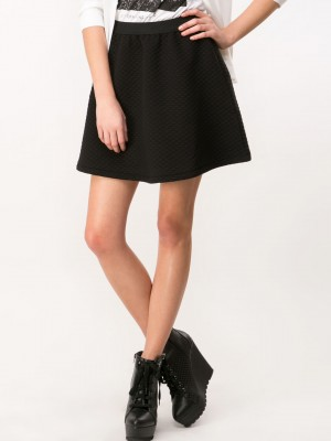 Buy SELECTED FEMME Textured Skater Skirt For Women - Women's Black ...