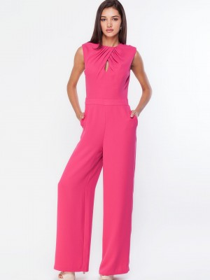 Buy WAREHOUSE Back Detail Wide Leg Jumpsuit For Women - Women's ...