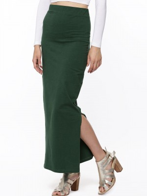 Buy KOOVS Pencil Maxi Skirt For Women - Women's Green Maxi Skirts ...