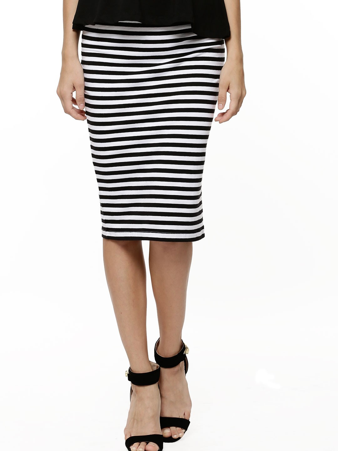 Buy KOOVS Striped Pencil Skirt For Women - Women's Multi Pencil ...