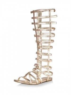 Buy NO DOUBT Knee High Gladiator Sandals For Women - Women&39s Gold