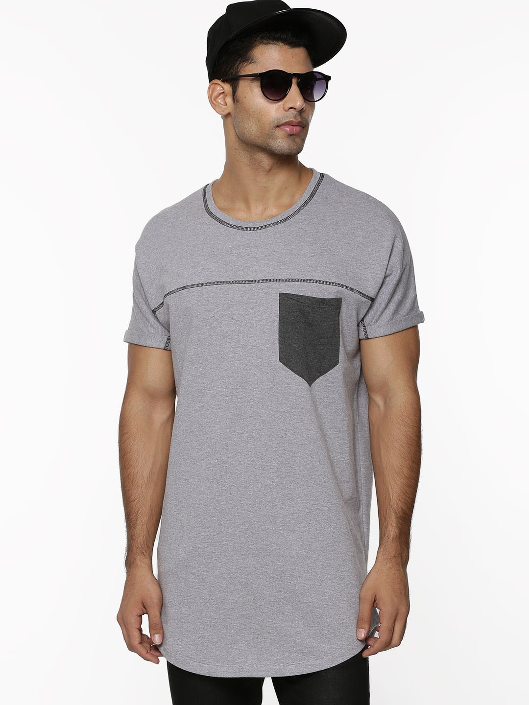 buy koovs oversized tee for men men 39 s grey t shirts. Black Bedroom Furniture Sets. Home Design Ideas