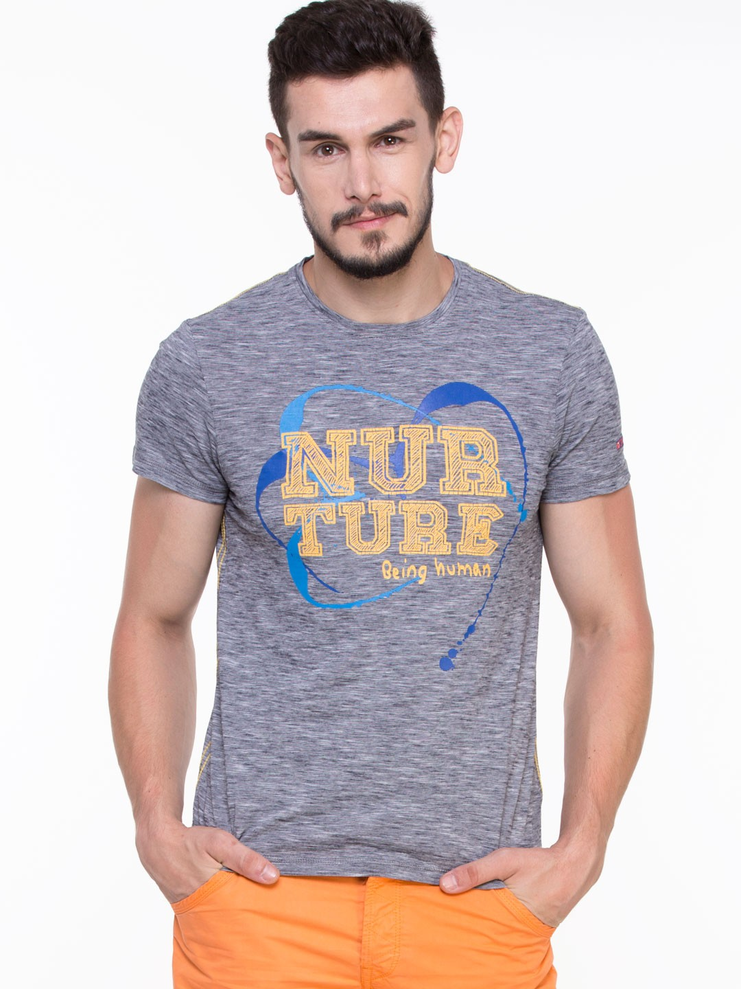 Buy being human nurture printed tee shirt as seen on for Being human t shirts buy online india