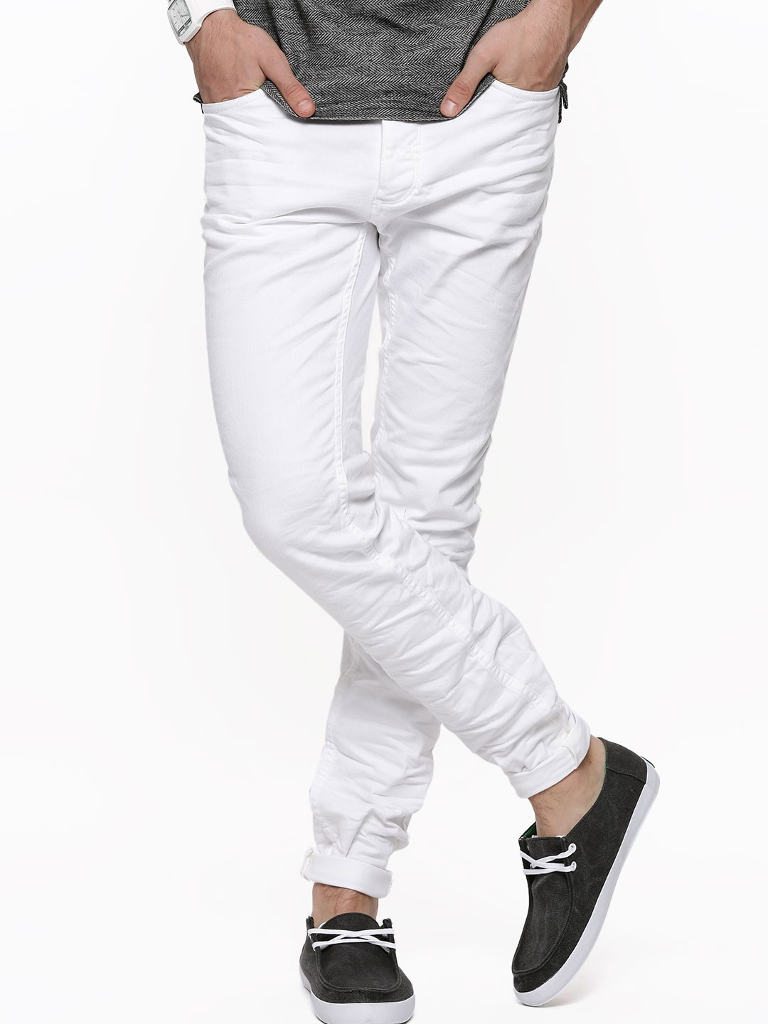 Buy SELECTED HOMME Classic Slim Fit Jeans For Men - Men's White ...