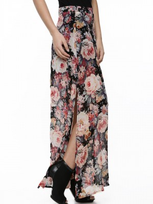 Buy GLAMOROUS Dark Floral Maxi Skirt For Women - Women's Multi ...