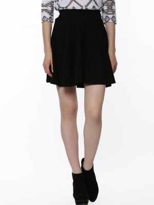 Buy FEMELLA Jersey Skater Skirt For Women - Women's Black Skater ...