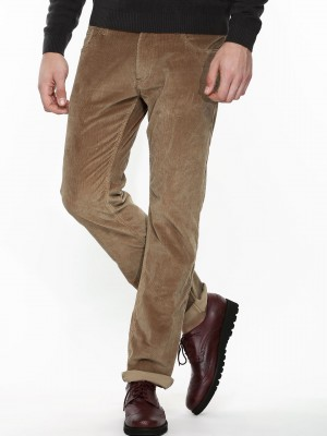Buy LEE Corduroy Trousers For Men - Men's Green/Brown Slim ...