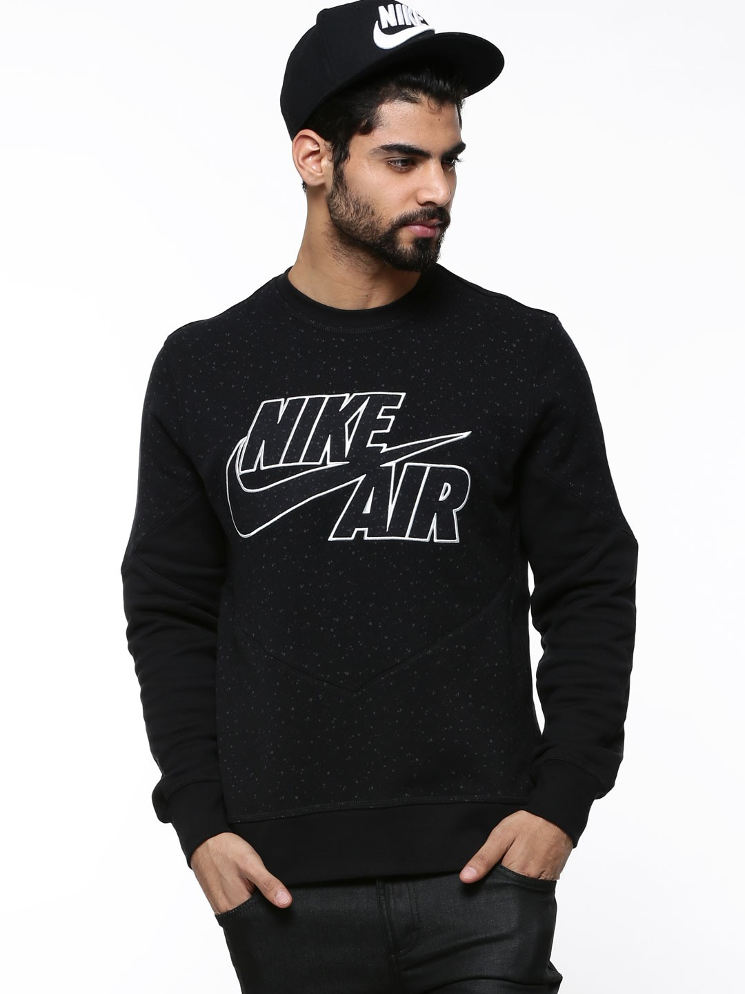 buy nike aw77 basketball sweatshirt for men men 39 s black. Black Bedroom Furniture Sets. Home Design Ideas