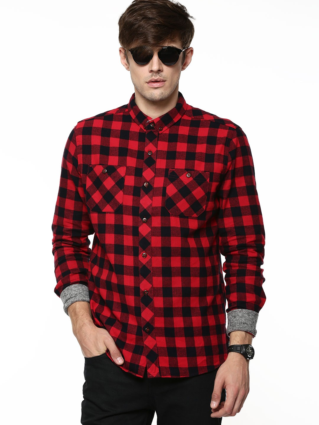 buy d struct mens buffalo check shirt for men men 39 s red