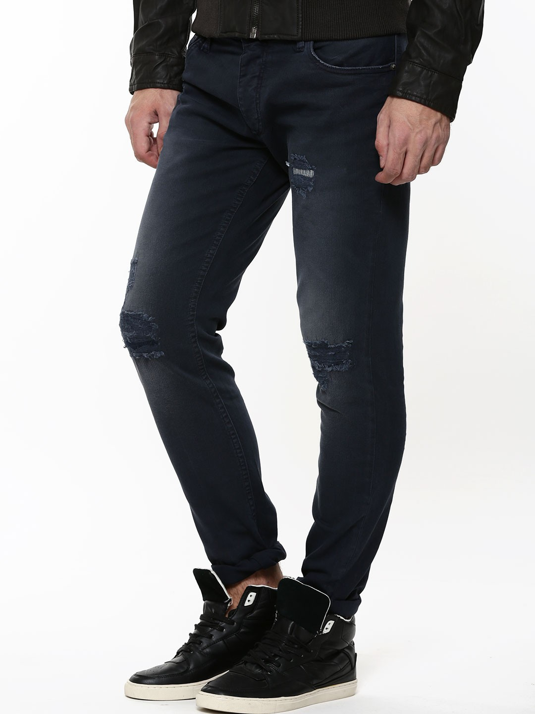 buy jack jones rip and repaired tim slim fit jeans for men men 39 s. Black Bedroom Furniture Sets. Home Design Ideas