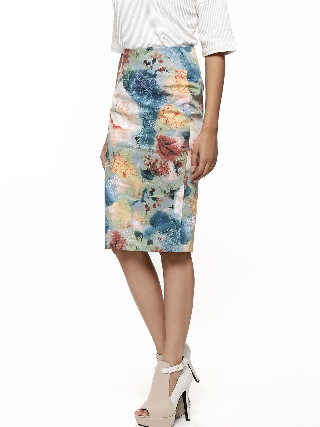 buy abstract print skirt for s