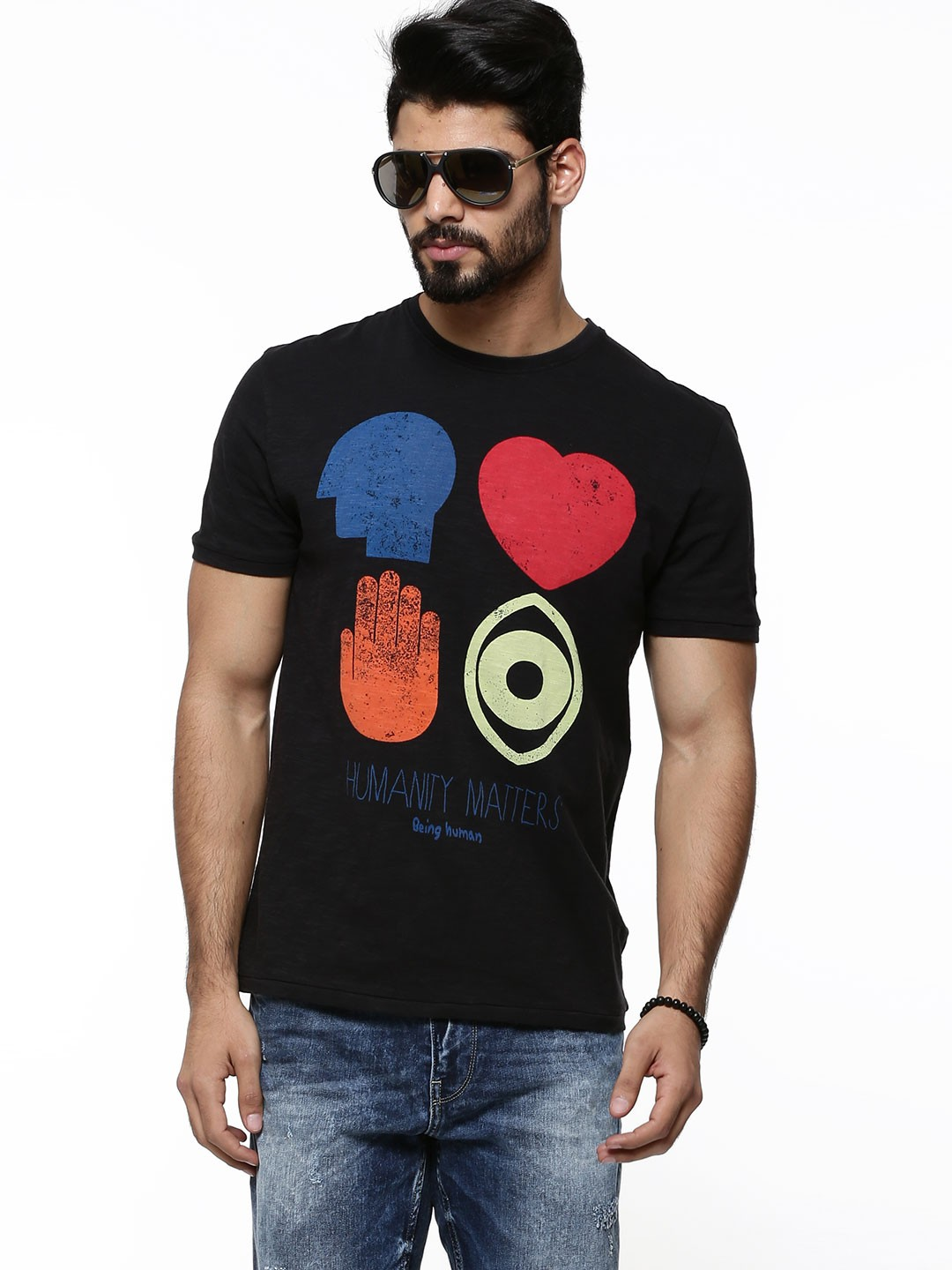 Buy being human 39 humanity matters 39 t shirt for men men 39 s for Being human t shirts buy online india