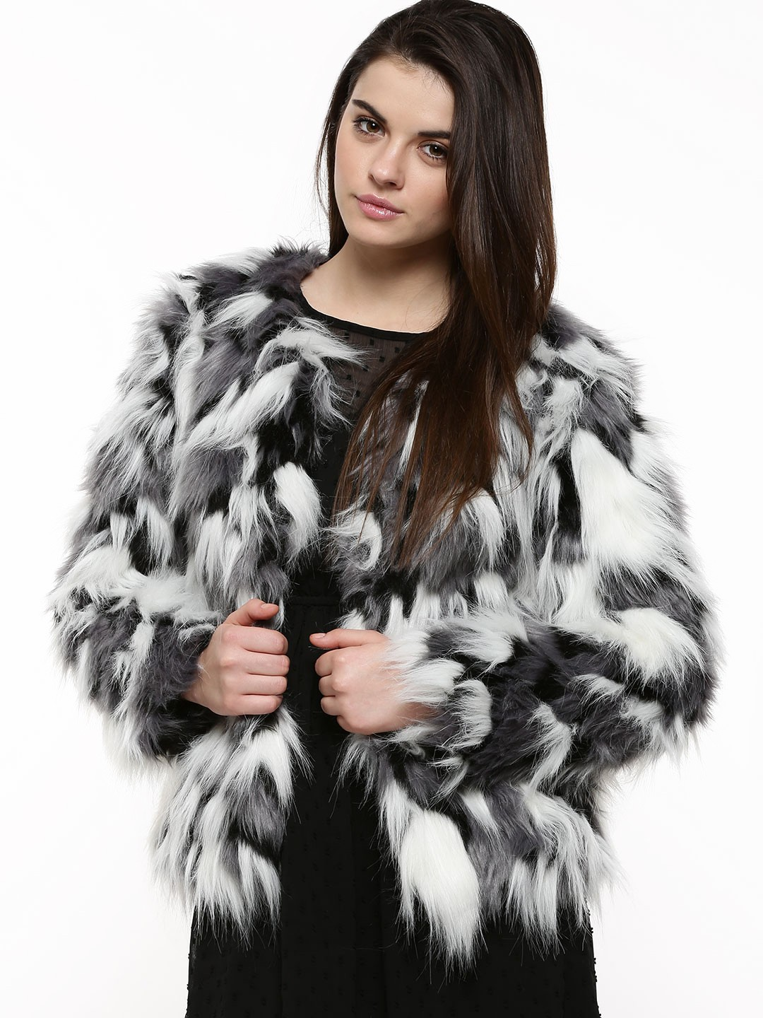 Buy VERO MODA Wing Short Fake Fur Jacket For Women - Women's Black ...