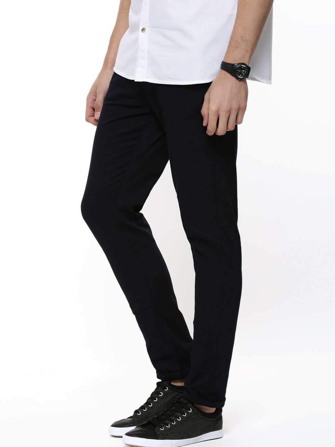 Our wide range of trousers will add a refined touch to your wardrobe and are available in a variety of styles and colours. Show off your trendy style with our ankle length trousers or choose a more classic look with our extensive range of Chinos. From smart looks to casual styles our trousers range.