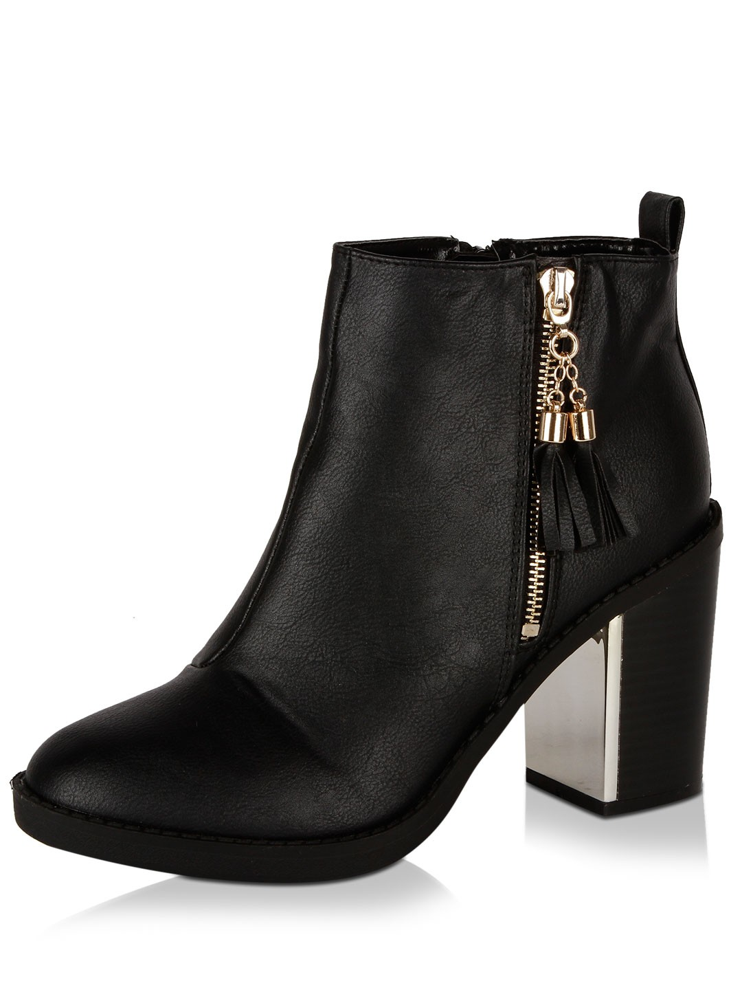 Buy NO DOUBT Metallic Detail Chunky Ankle Boots For Women ...