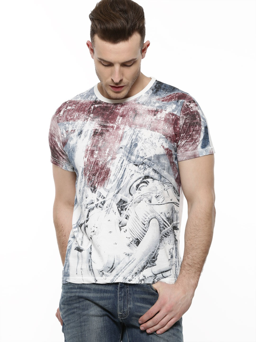 Buy Pepe Jeans All Over Print T Shirt For Men Men 39 S Off