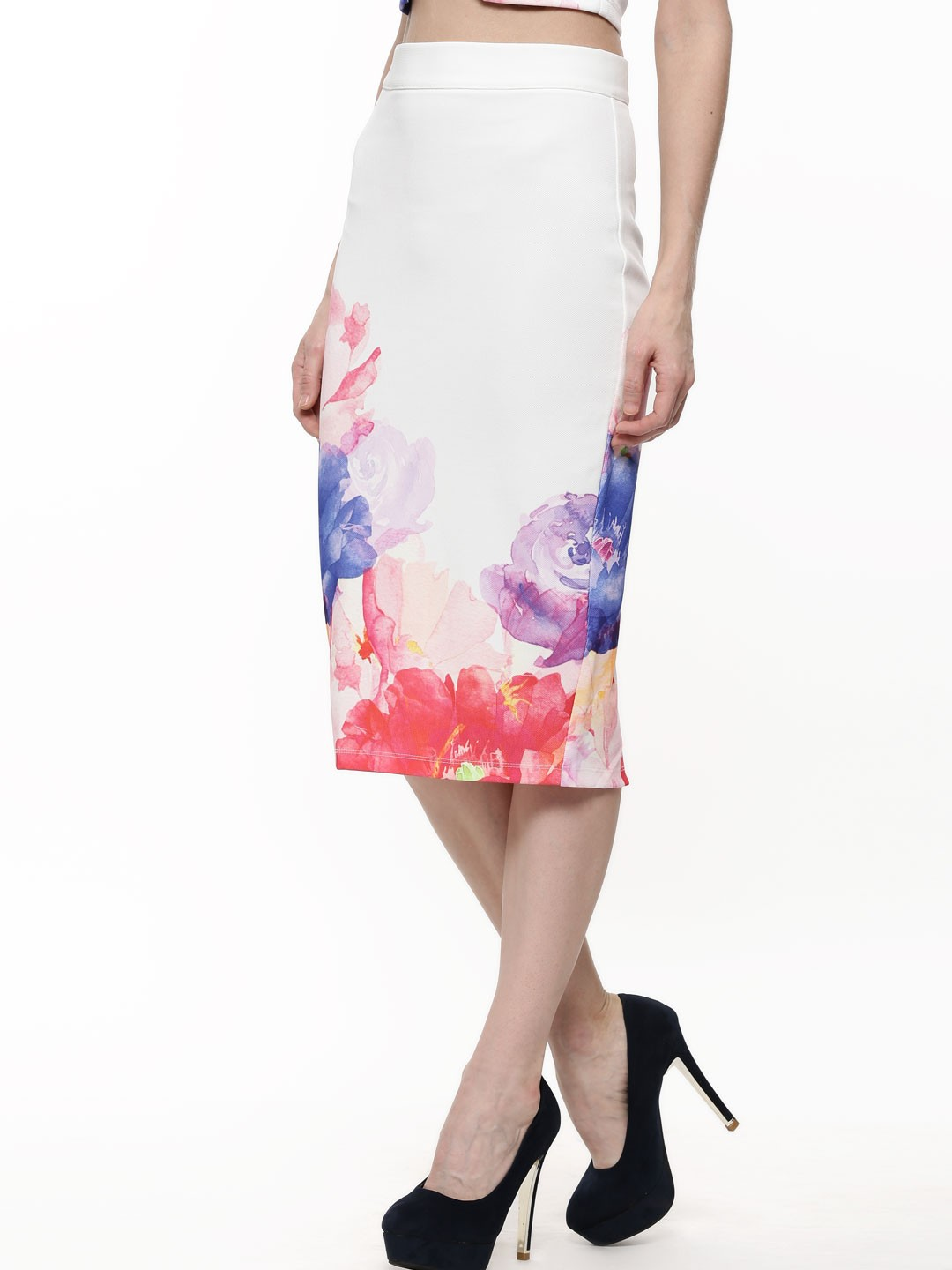 Buy GINGER FIZZ Digital Floral Print Pencil Skirt For Women ...