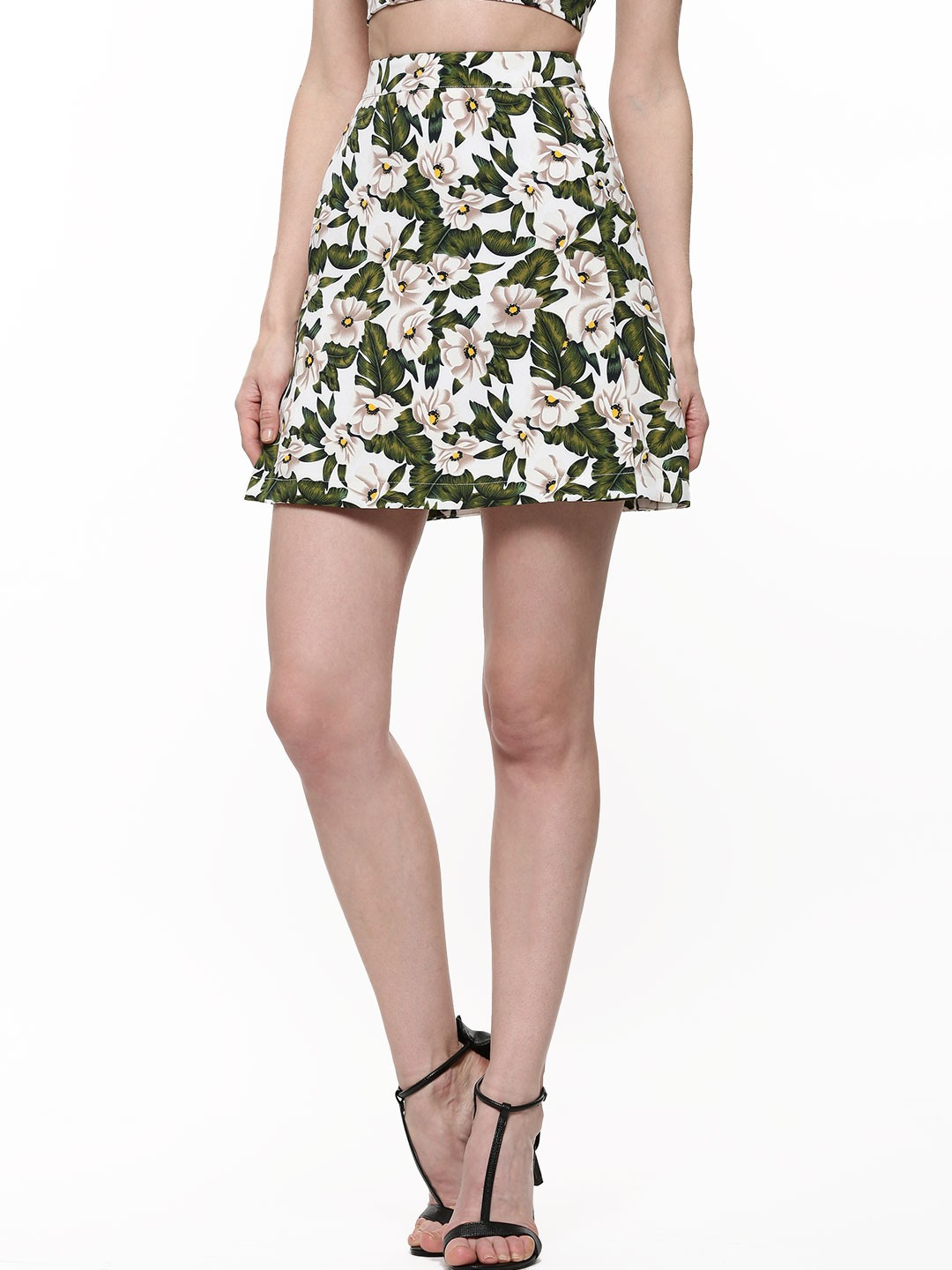 Buy FASHION UNION Palm Floral Print A-Line Skirt For Women ...