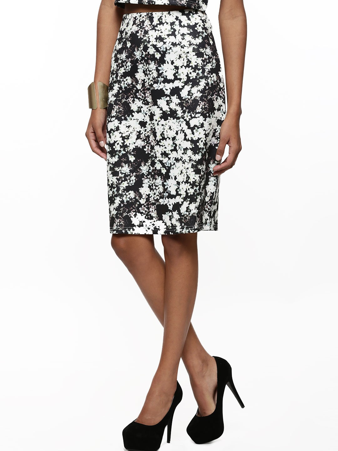 buy fashion union floral print pencil skirt for