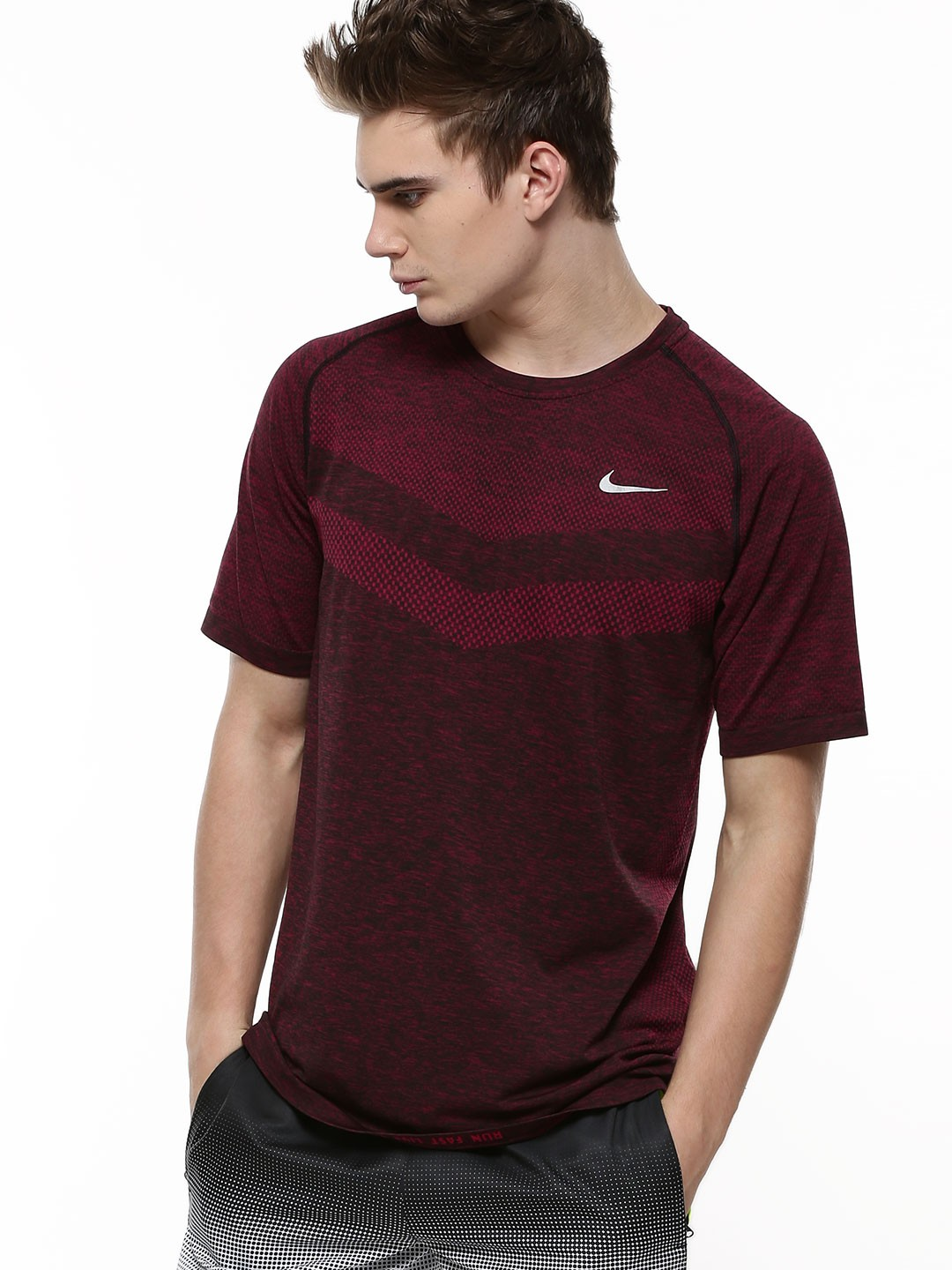 Buy nike dri fit knit t shirt for men men 39 s red t shirts for Buy dri fit shirts