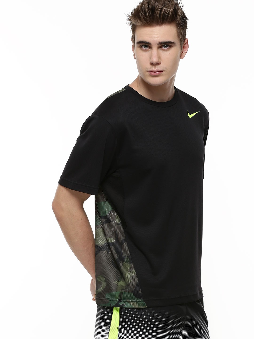 Buy nike vapor dri fit camo t shirt for men men 39 s black for Buy dri fit shirts