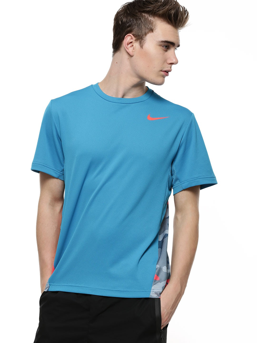 Buy nike vapor dri fit camo t shirt for men men 39 s blue t for Buy dri fit shirts