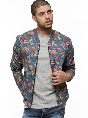 Buy KOOVS Hula Girl Bomber Jacket For Men - Men's Multi Bomber ...