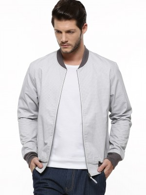Grey Bomber Jacket Men - JacketIn