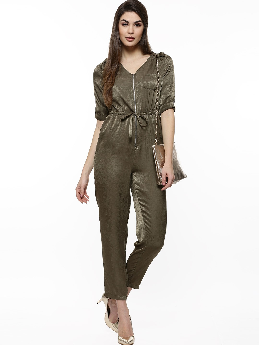 Fantastic Home Womens Jumpsuits Amp Dungarees Sisley Jumpsuit In Khaki