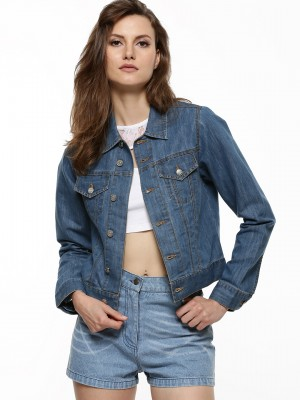 Buy KOOVS Denim Jacket For Women - Women&39s Blue Jackets Online in